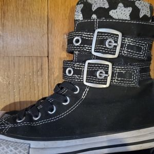 Converse Girls Hi-Tops With Buckle Straps